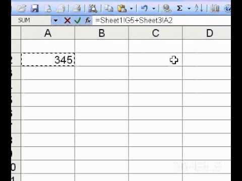Microsoft Office Excel 2003 Formulas between worksheets - YouTube