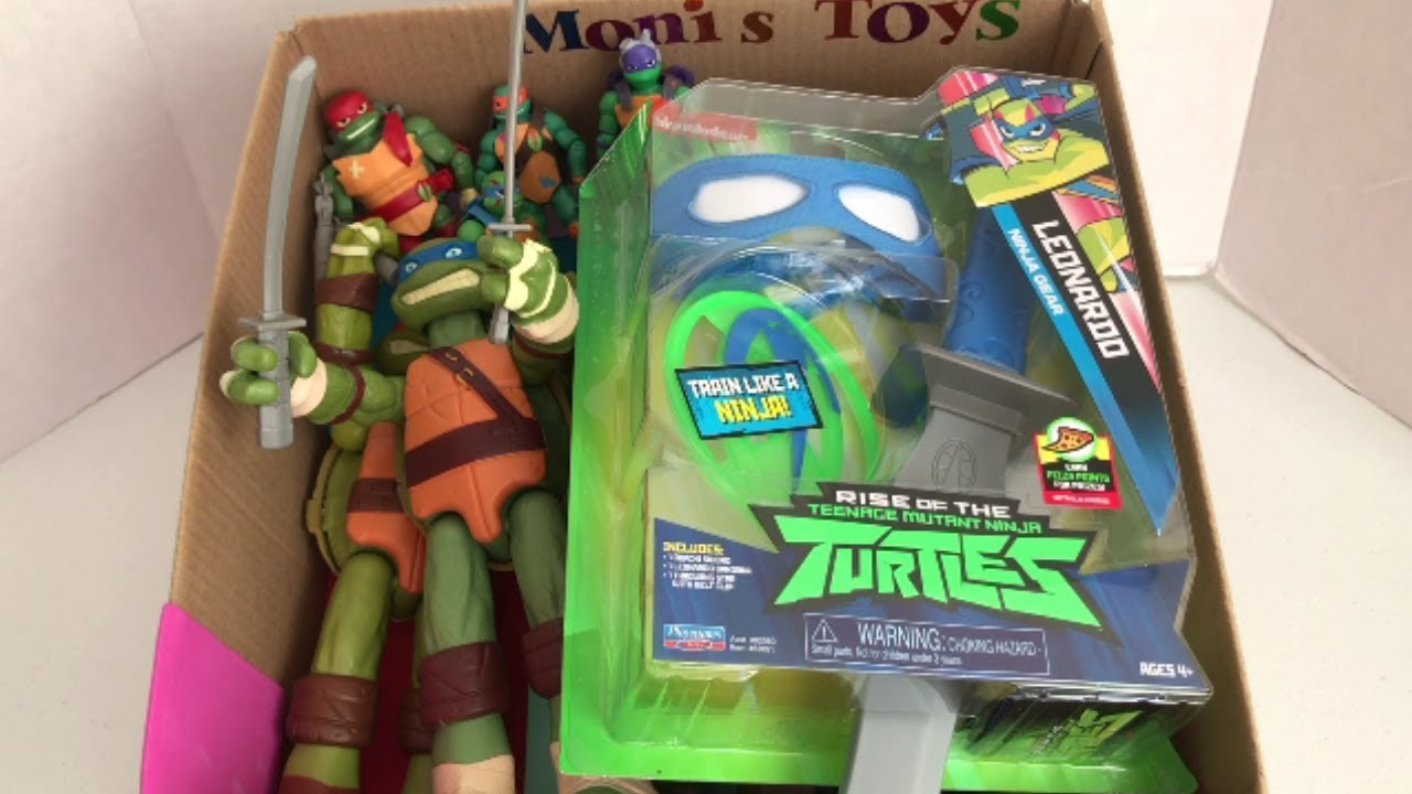 Box Of Toys With Names Unboxing Leonardo Combat Gear Rise Of The
