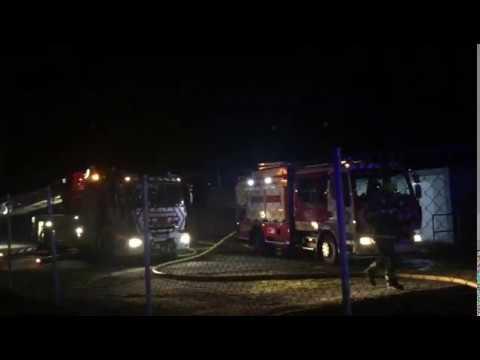 Incendio en una nave en Vilamarín, Ourense