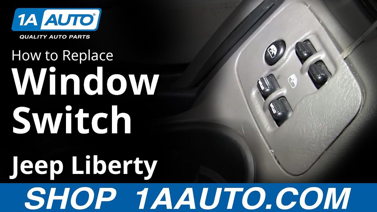 how to replace power window switch 04 jeep liberty youtube gl450 power window switch wiring diagram [ 1280 x 720 Pixel ]