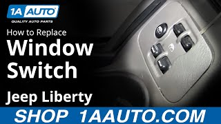 How To Install Replace Drivers Power Window Master Switch Jeep Liberty