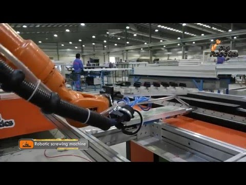 1ST Aluminium Louver Doors Robotics Screwing & Assembling Machine