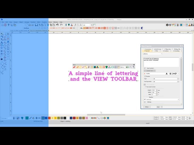 What I can learn from a simple line of lettering and the view toolbar