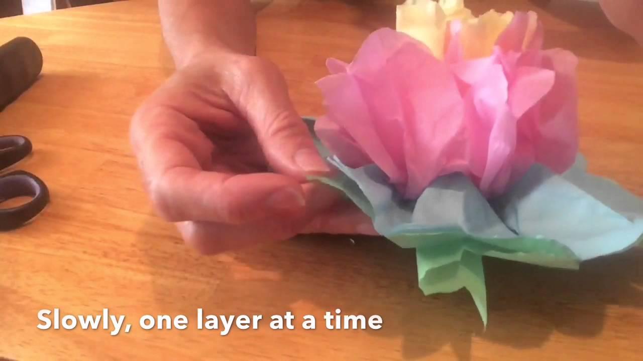 Tissue paper flowers episode 013 youtube tissue paper flowers episode 013 mightylinksfo