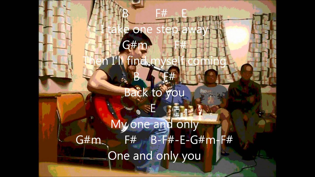 Your Song My One Only You Lyrics W Guitar Chords Youtube