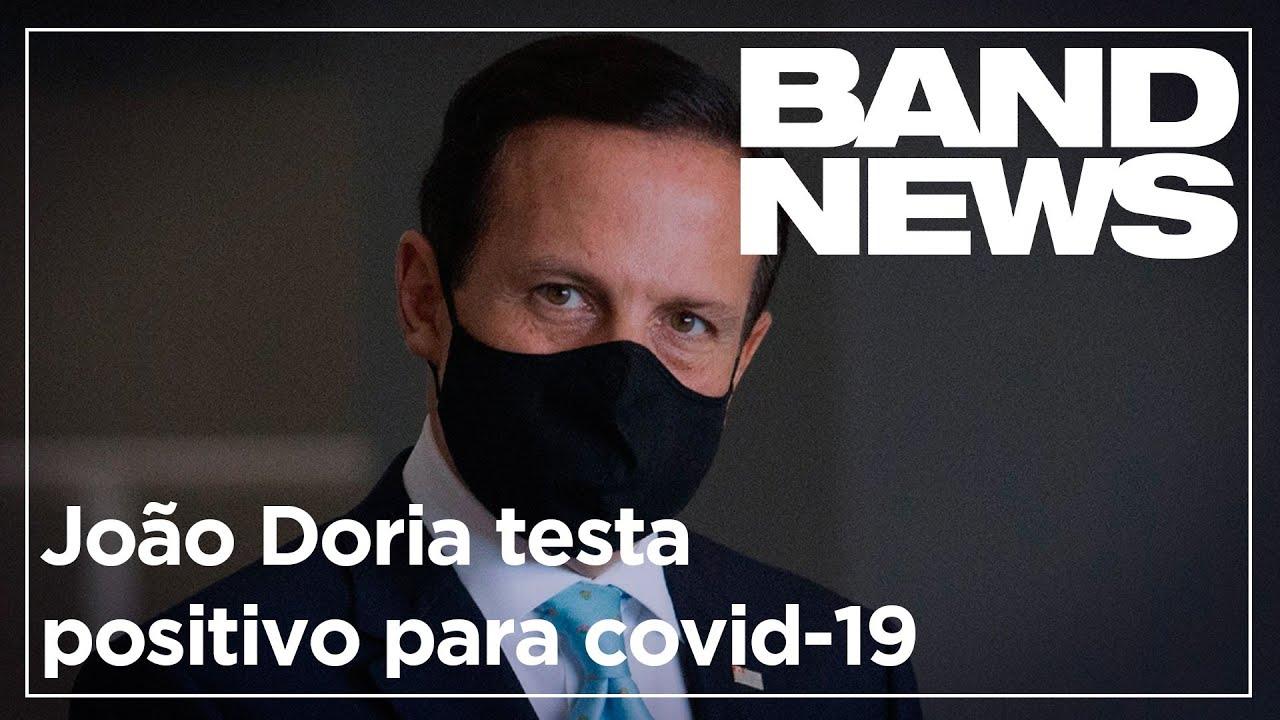João Doria testa positivo para Covid-19