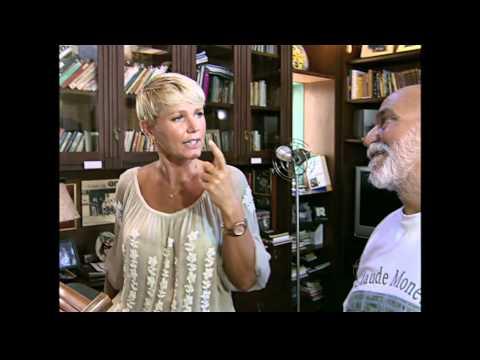 Xuxa Vizita a casa de Lima Duarte 07/04/2012