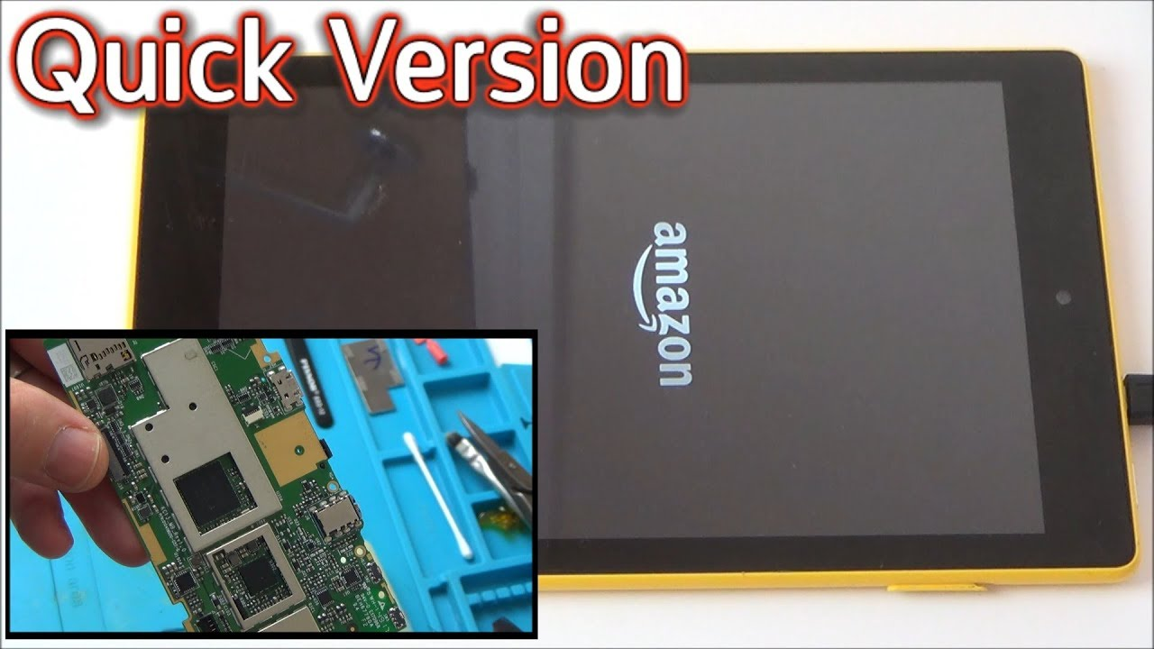 Trying to FIX: Water Damaged Amazon Fire Tablet (Quick Version)