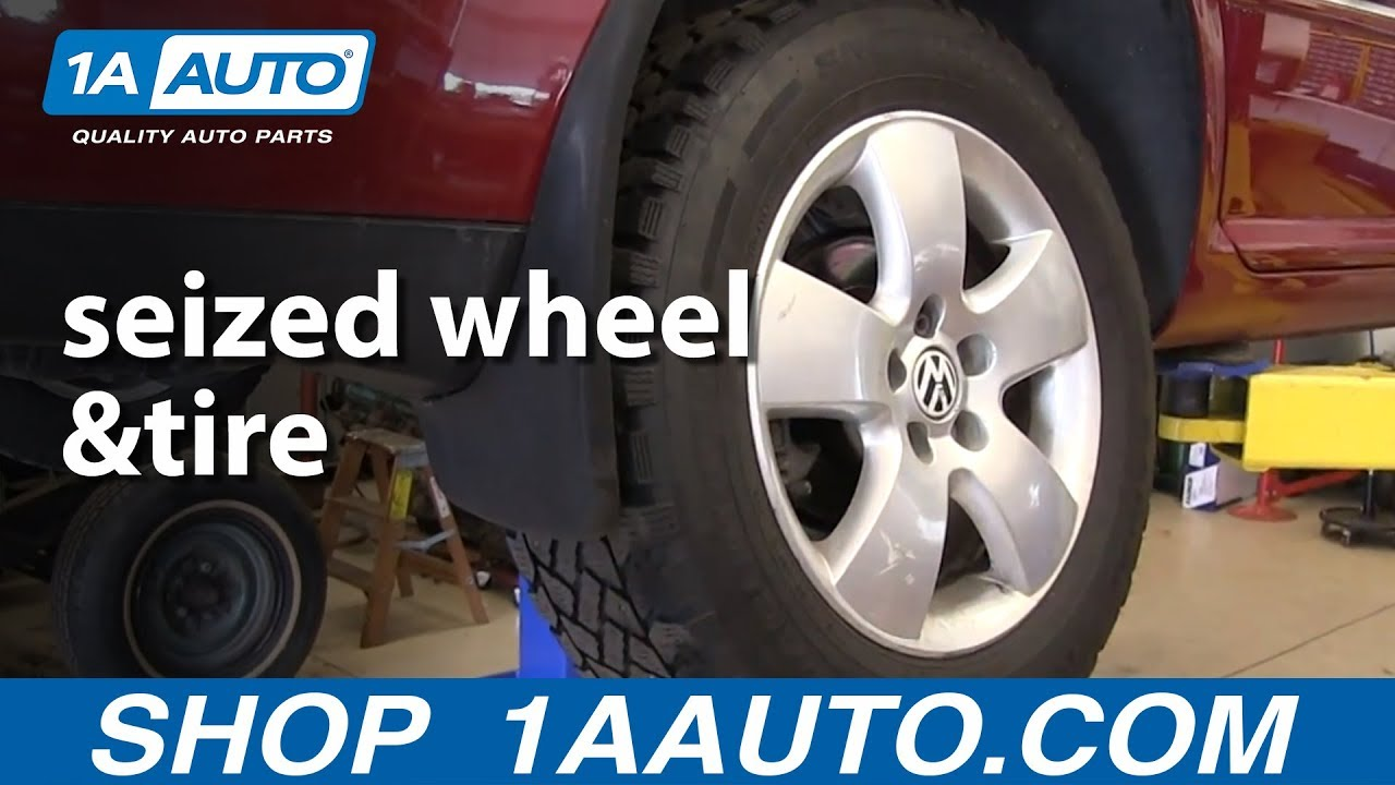 How To Remove A Seized Wheel Lug Nuts Are Off But Wheel Is Stuck