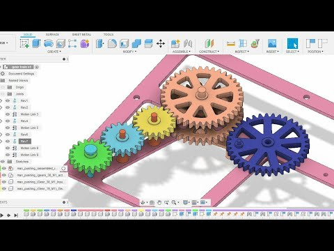 GEAR JOINTS - FUSION 360 TUTORIAL - YouTube