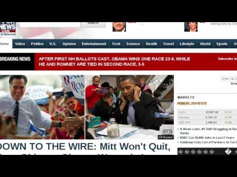 Fox news - 2012 US General Elections via Web Archives