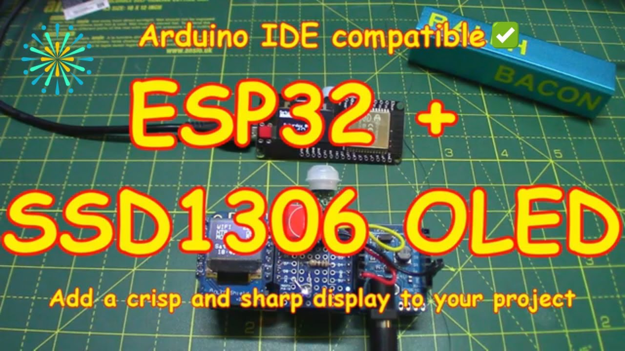 #141 ESP32 + SSD1306 OLED Single Module (Arduino Compatible)
