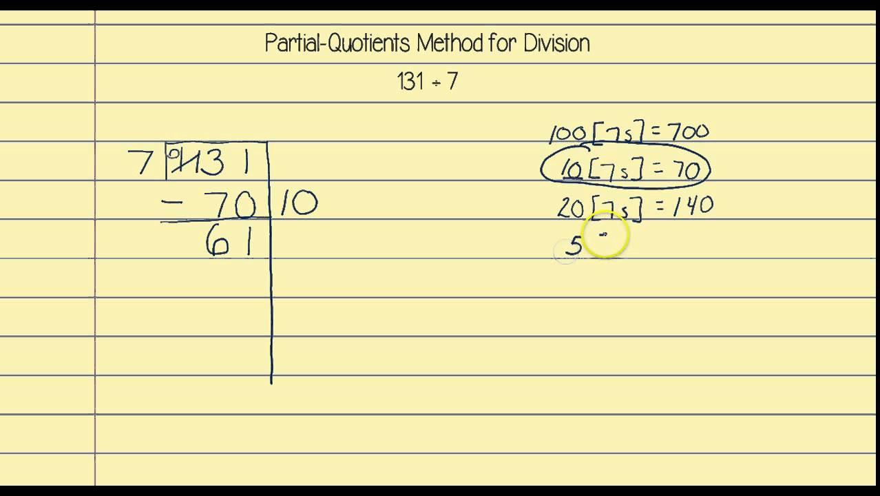 Pictures Partial Quotient Worksheet - Studioxcess