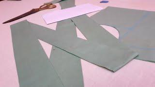 फ्रिल के साथ प्लैन कुर्ती पर बना बेहद ही खूबसूरत डिज़ाइन / Fril Neck Design Cutting and Stitching