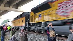 President George H.W. Bush's Train From Houston To College Station - Captured In Spring, Texas