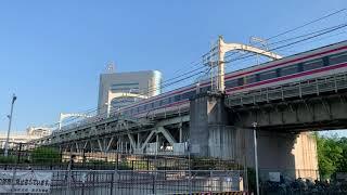 東武伊勢崎線 東京スカイツリー 隅田川 北側から撮影