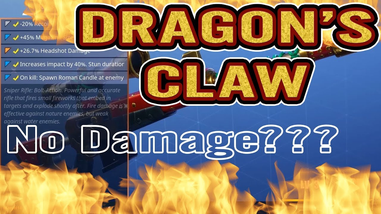 Fortnite | Dragon's Claw Sniper | No Damage??! | Fireworks | Roman Candles