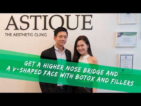 Get a Higher Nose Bridge and a V-Shaped Face with Botox and Fillers