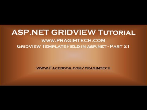 GridView TemplateField in aspnet - Part 21 - YouTube