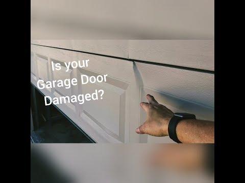Garage Door Bent? | Wind Damage Reinforcement