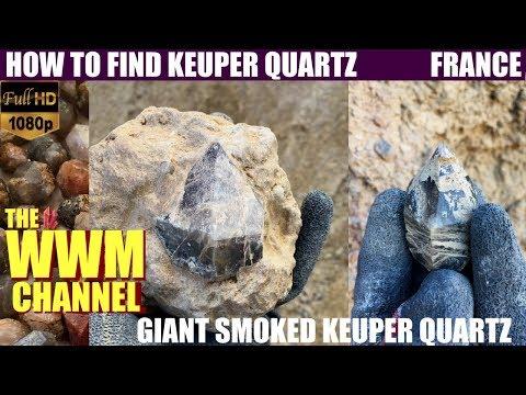 Hunting Quartz Crystals in France ! Mining Keuper Quartz