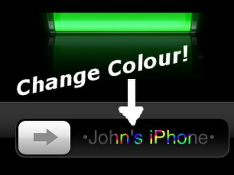 How To Change Slider Text Colors On IPhone IPod Touch IPad