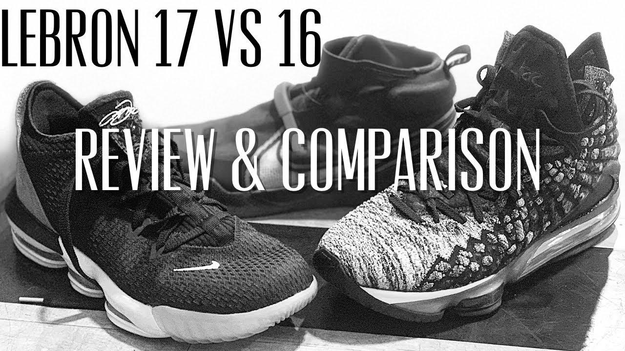 Nike Lebron 17 vs 16 Complete Review & Comparison