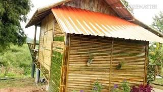 rumah bambu, desain inspirasi rumah bambu