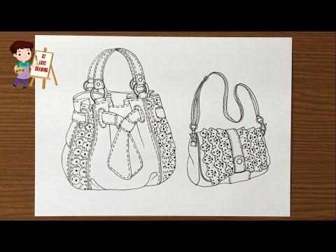 vẽ trang trí túi xách lớp 9 tại kienthuccuatoi.com