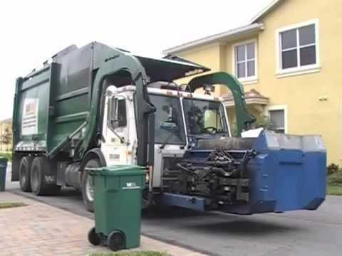 Вывоз мусора. И вот как это у них.