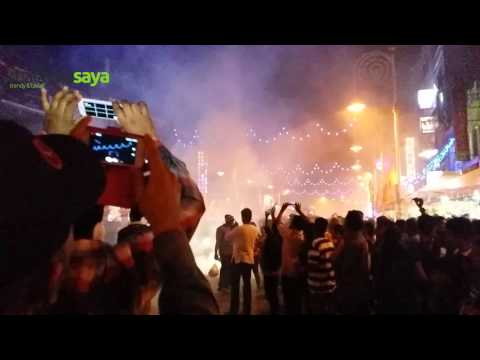 Fireworks at Brickfields for Deepavali 2015