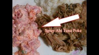 Cooking With Honey - Spicy Ahi Tuna Poke & Sushi Hand Roll