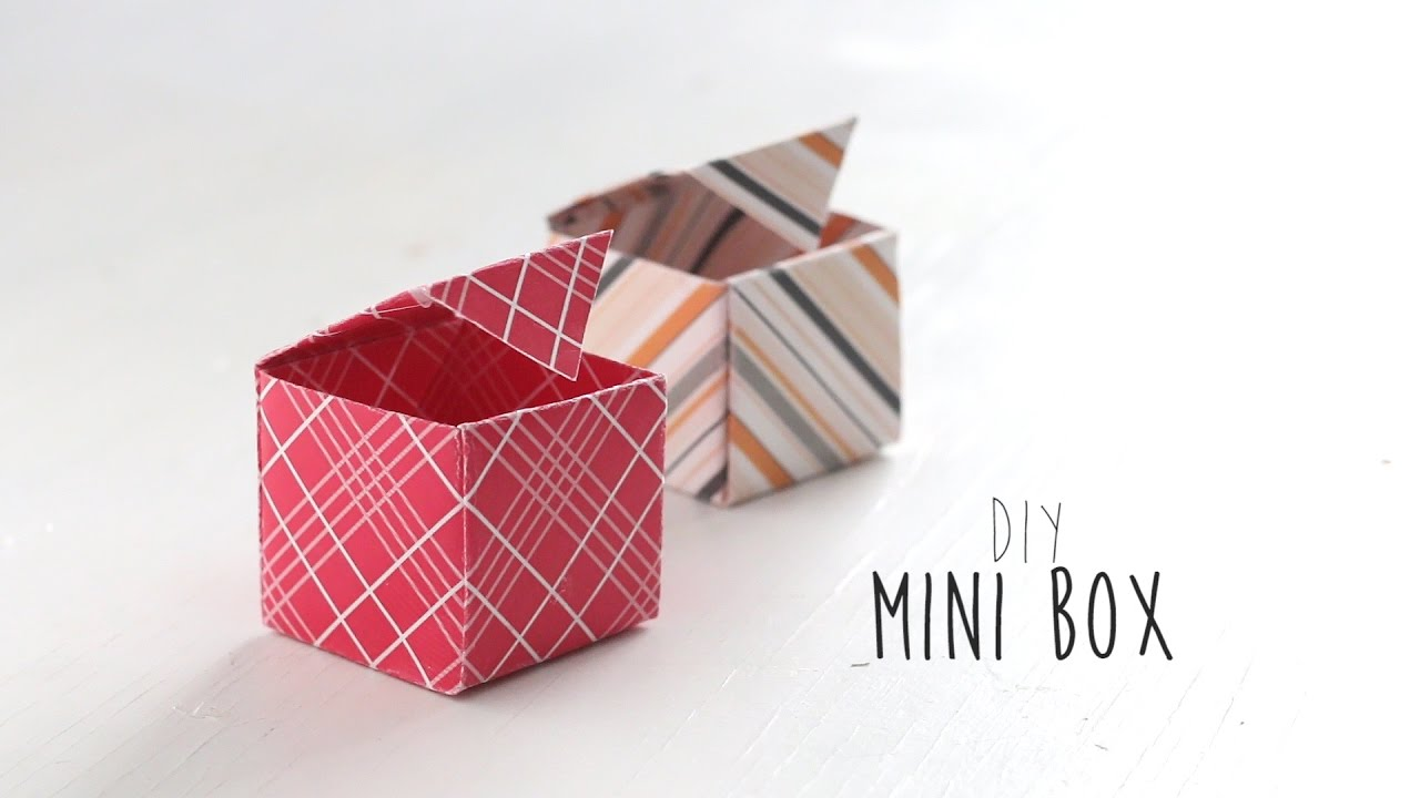 how to make a mini box out of paper