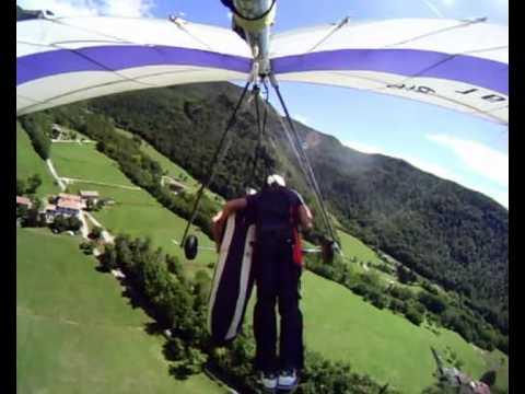 Volo Libero In Deltaplano Biposto Lago Di Garda. Hang Gliding Tandem Fly Garda Lake - 007