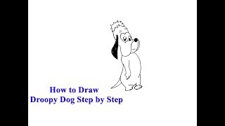 How to Draw Droopy Dog Step by Step