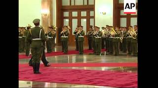 Malaysian king meets Chinese president