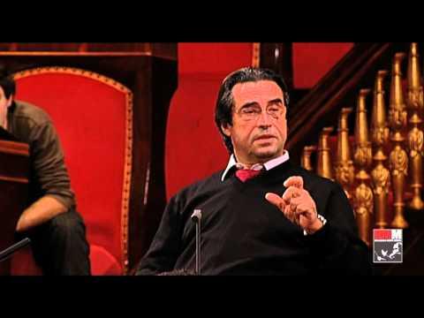 Riccardo Muti prova Verdi con l'Orchestra Giovanile Cherubini in Senato