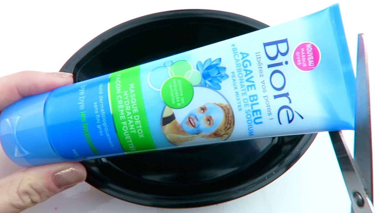 Satisfying DIY ASMR Experiment! Cutting Open and Testing Biore Blue Agave Face Mask