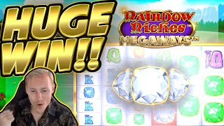 HUGE WIN!! Rainbow Riches Megaways BIG WIN!! Online Slot from CasinoDaddy Live Stream