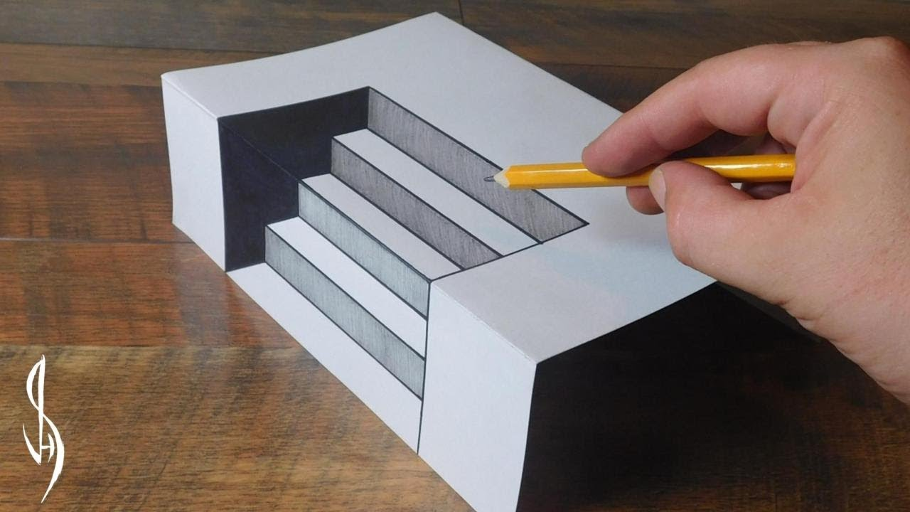 Ultimate guide on how to draw 3d steps trick art for kids