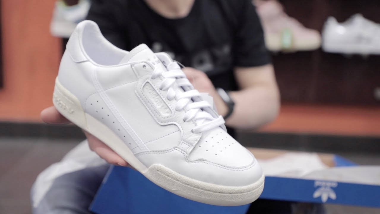 Unboxing Sneakers Adidas Continental 80 Home Of Classic Bianco EE6329 |  Freesneak Shop