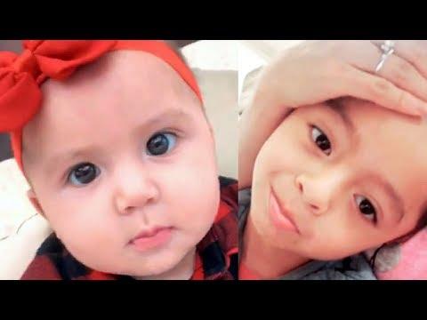 Kimberly Flores y Edwin Luna comparten tiernos vídeos de sus hijos Gianna y Damián