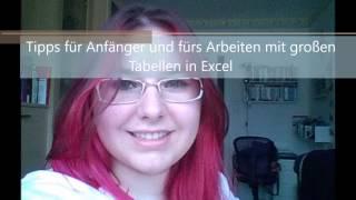 Excel: Tipps für Anfänger und für das Arbeiten mit großen Tabellen