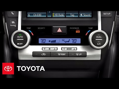 2012 Camry How-To: Automatic Dual Zone Climate Control | Toyota