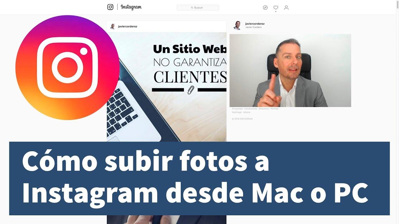 como publicar en instagram desde mac