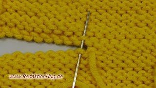 Stricken - Maschenstich bei linken Maschen - Zusammennähen thumbnail