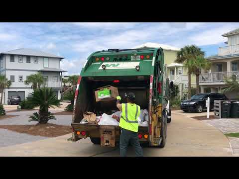 Waste Management Rear Loader On Manual Trash