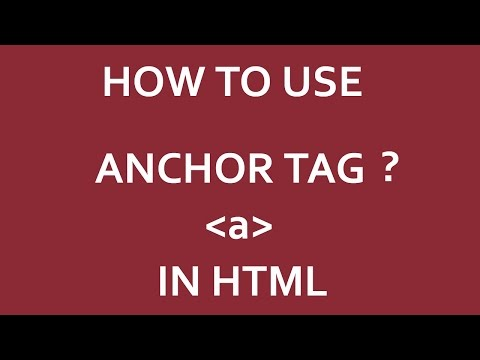 How To Use ANCHOR Tag In HTML | 2020  ?