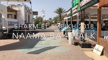 Sharm El Sheikh 2018, Naama Bay walk, 4K