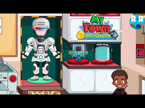 My Town : Police Station NEW UPDATE!!  Find The New Costume ROBOCOP!!